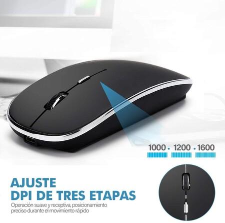 Mouse inalámbrico con batería recargable en descuento en México