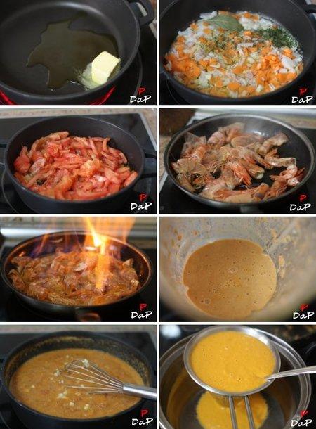 Elaboración de la salsa americana