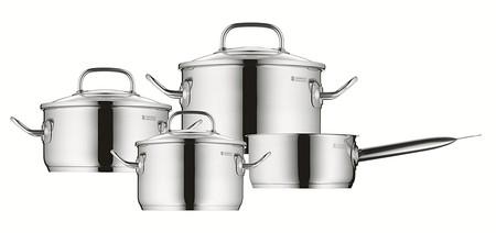Oferta flash en la batería de cocina de cuatro piezas WMF Profi Plus de acero inoxidable: su precio es de 76,99 euros en Amazon