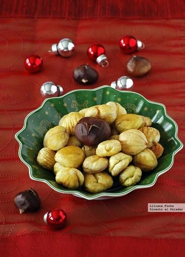 Cómo hacer castañas asadas. Receta tradicional de Navidad