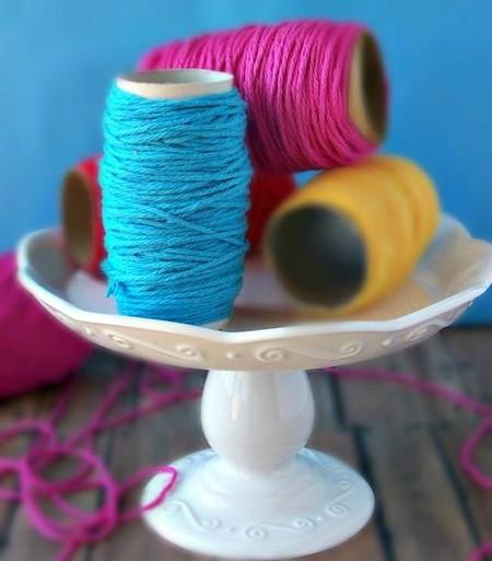 Toilet Paper Yarn Holders Recycle