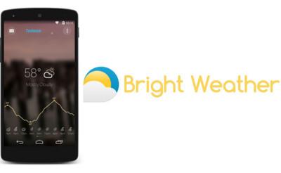 Bright Weather para Android, la nueva aplicación del tiempo de los creadores de Beautiful Widgets