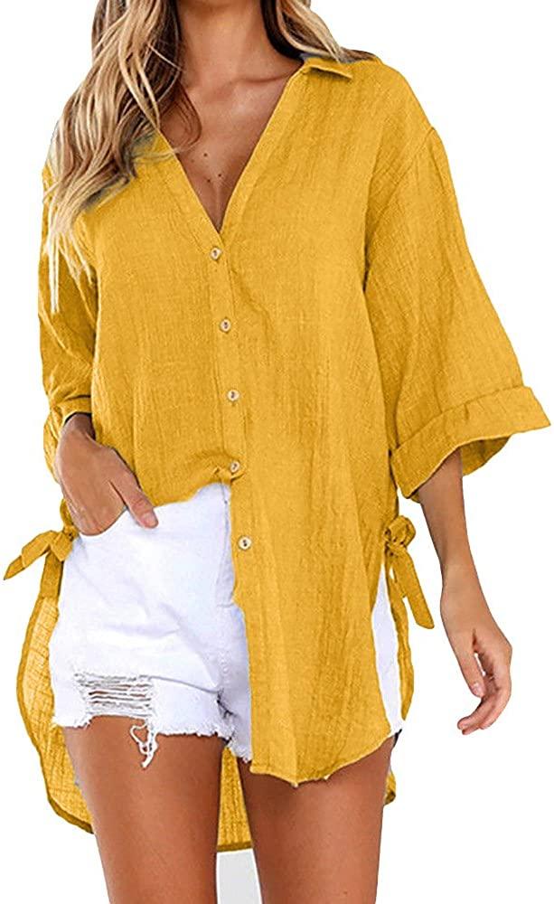 Camisa en color mostaza