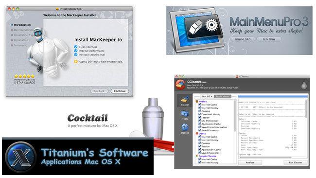 Aplicaciones de mantenimiento para OS X