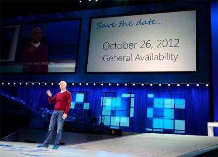 Windows 8 llegará al mercado el 26 de octubre