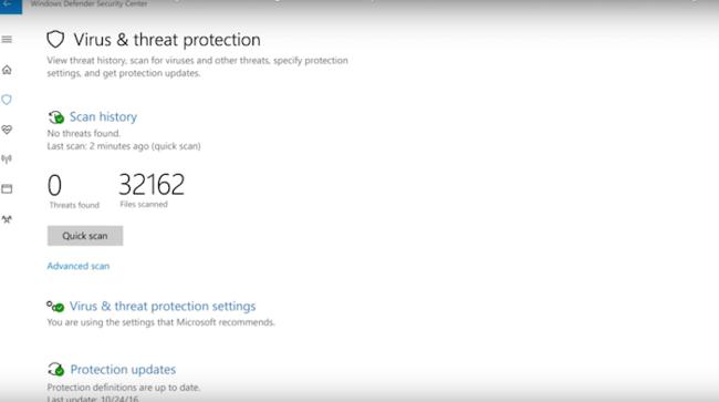 Windows Defender Security Center 4
