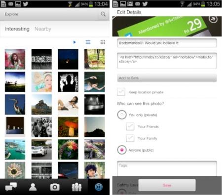 Flickr renueva su aplicación oficial para Android