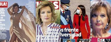 María Teresa Campos no tiene ni un euro suelto, Raquel Perera posa cual representante de Eurovisión y la boda secreta de Resines: estas son las portadas de la semana del 14 de octubre