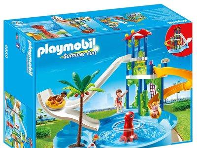 El parque acuático con toboganes de Playmobil cuesta sólo 44,28 euros en Amazon con envío gratis