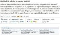 Air Madrid sigue volando en Google Ad Sense
