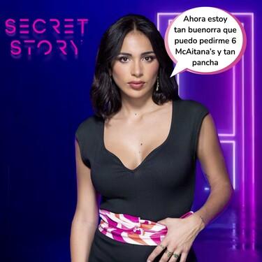 """Desvelamos cuál es el secreto de Sandra Pica en 'Secret Story': una pista confirma que """"en la infancia la llamaban bola de sebo con patatas"""""""