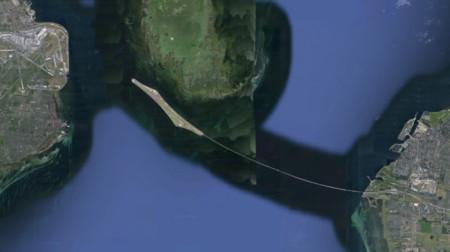 Puente De Oresund Frontera Dinamarca Suecia Aereo