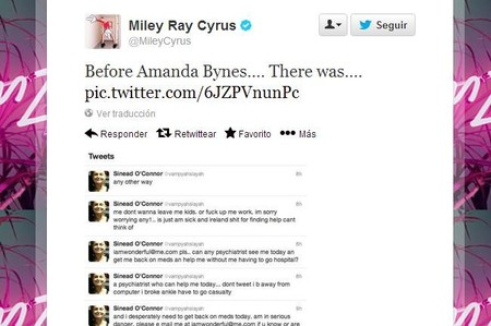 Miley Cyrus le recuerda a Sinead O'Connor que un día perdió la cabeza