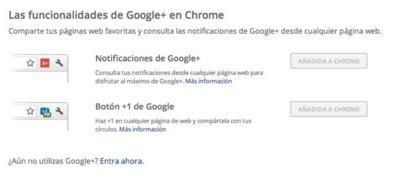 Google lanza dos extensiones de Google+ para Chrome