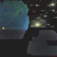 Es nuevo mapa 2D del universo es gigantesco y tiene alrededor de 2.000 millones de objetos