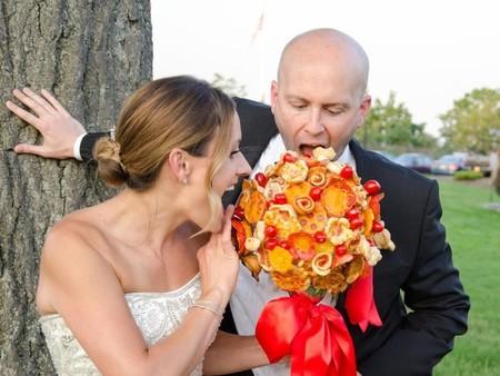 Ahora puedes tener un bouquet de pizza en lugar de un ramo de flores para el día de tu boda
