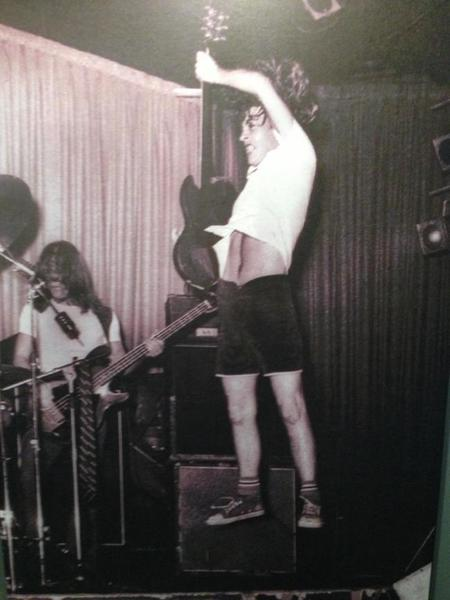 Angus Young Levitating