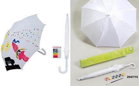 Paraguas pintado por los niños