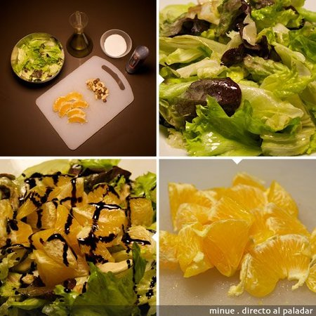comida para llevar - ensalada de naranja  - elaboración