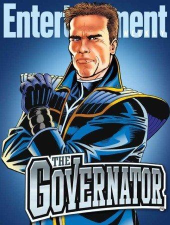 Arnold Schwarzenegger es un dibujo animado en 'The Governator'