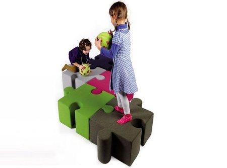 KidzPuzzle, piezas de puzzle gigantes para la habitación infantil