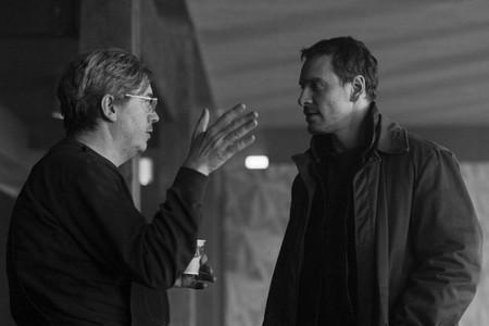 Thomas Alfredon y Michael Fassbender durante el rodaje