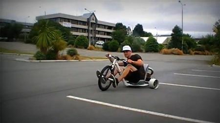 Trike drifting, con motor, más y mejor