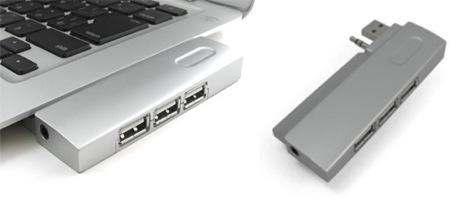 HUB fijo de 3 puertos USB para el MacBook Air