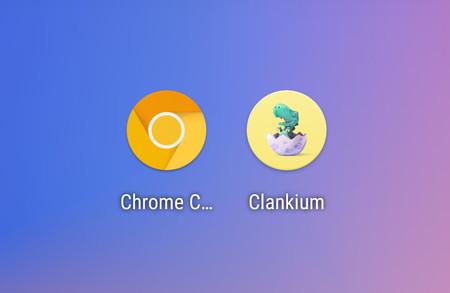 Chrome Canary cambia de nombre y de icono en Android, ahora es Clankium y su icono es un dinosaurio
