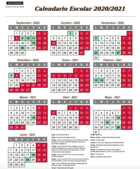 calendario-escolar-2020-2021-extremadura
