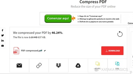 Como bajar peso de pdf en macbook