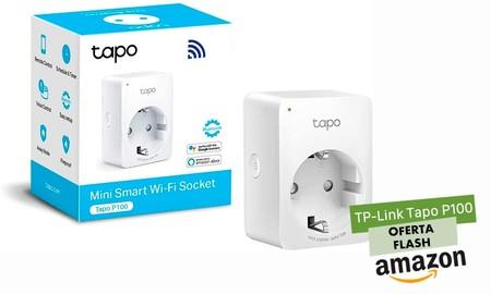 Oferta flash en Amazon: hoy el enchufe inteligente TP-Link Tapo P100 sólo cuesta 10,99 euros
