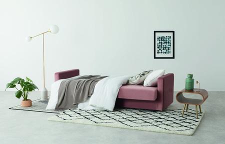 Made Com Sofa De Terciopelo Rosa Chou 6