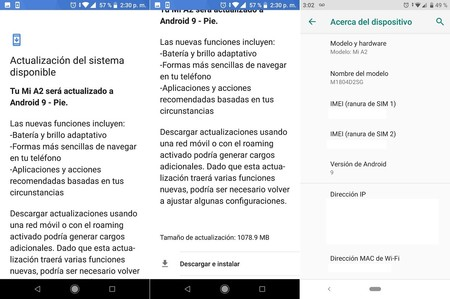 Android 9 0 Pie Xiaomi Mi A2 Mexico