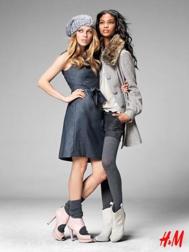 Más looks y tendencias de HM de cara al Otoño-Invierno 2009/2010, con Chanel Iman y Masha Novoselova, abrigos