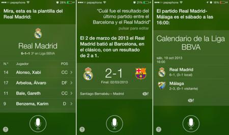 Preguntándole a Siri acerca de deportes en iOS 7