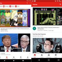 YouTube prueba la barra de navegación abajo y nos hace preguntarnos cuál nos gusta más