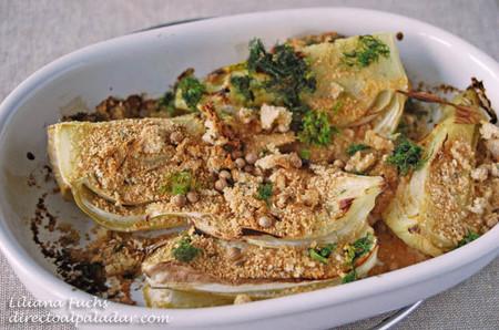 Hinojo asado con crujiente especiado, receta sencilla de guarnición saludable