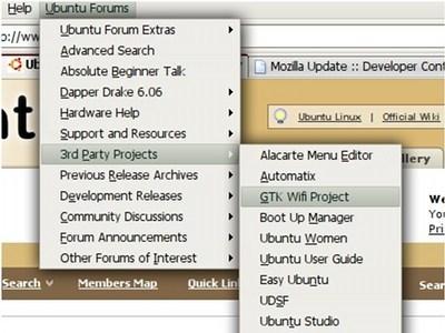 Ubuntu Forums Menu para Firefox