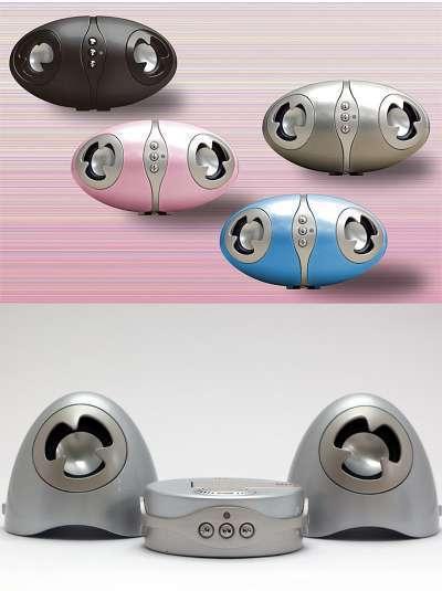 Reproductor MP3 de diseño y con altavoces externos