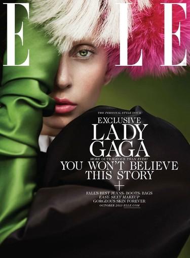 Lady Gaga asoma el ojo en Elle... ¡y hay que ver cuánto glamour!