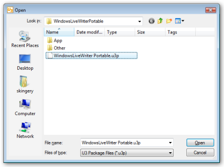 Windows Live Writer Portable