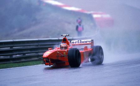 Michael Schumacher 3 ruedas Spa 1998