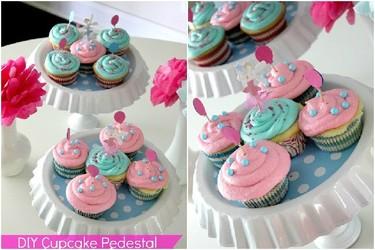 Hazlo tú mismo: pedestales para cupcakes