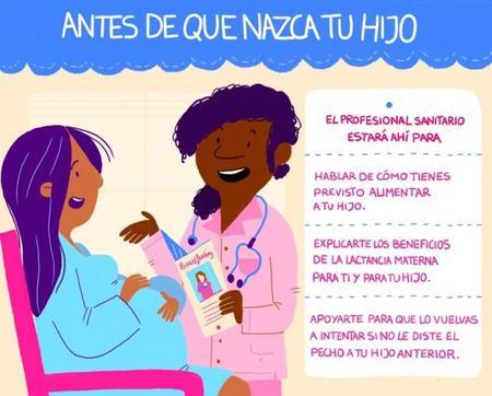 Carteles de la OMS para la Semana Mundial de la Lactancia Materna