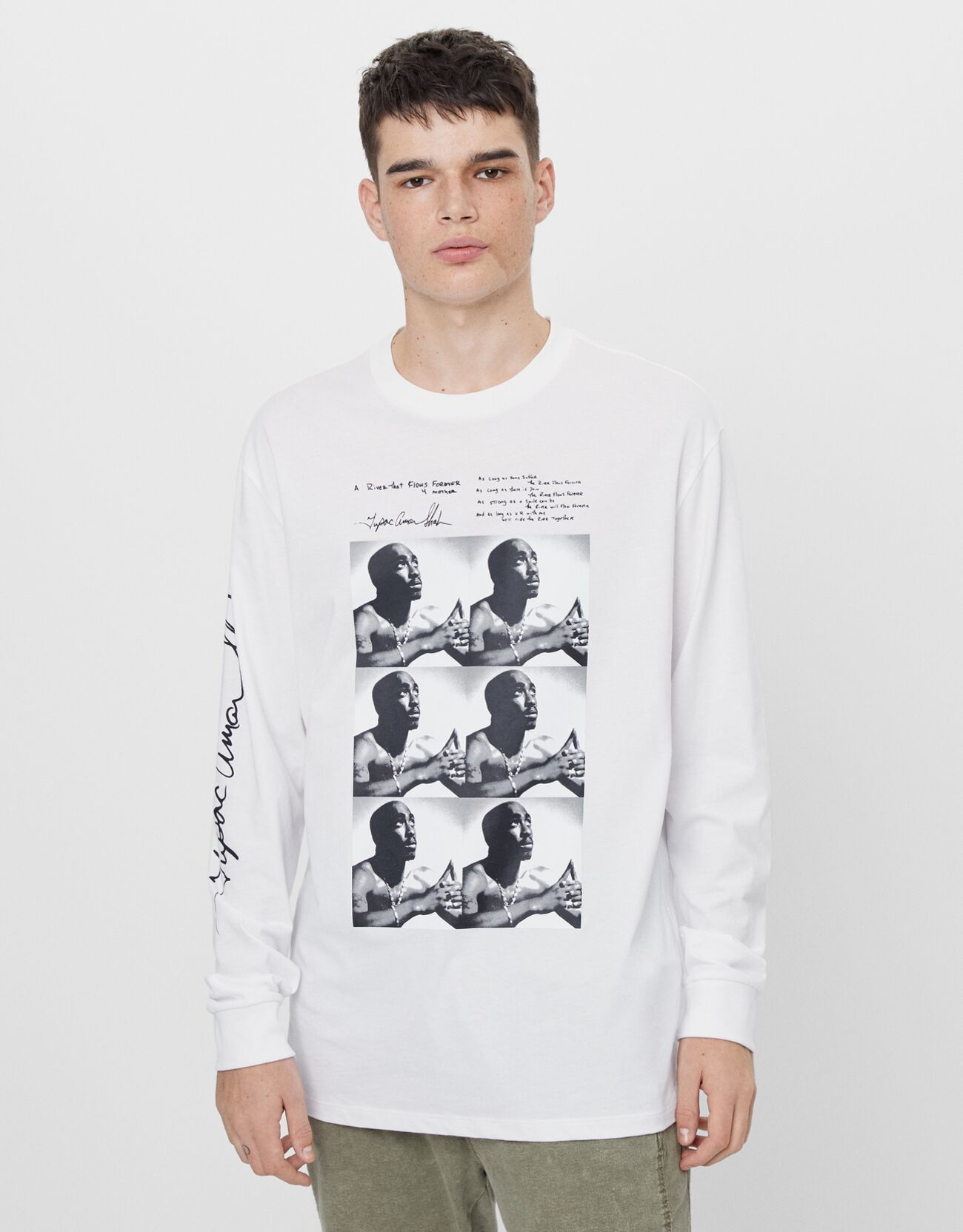 Camiseta de manga larga de Tupac