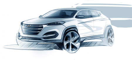 El nuevo Hyundai Tucson se parecerá a este boceto