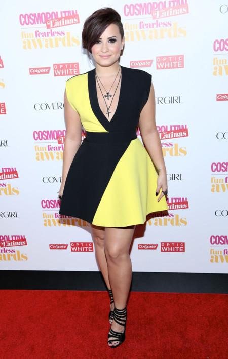Demi Lovato premios Cosmopolitan Fun Fearless Latina 2014 Fausto Puglisi Primavera Verano 2014