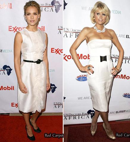 Un estilo lady-like en blanco: ¿París o Jessica?