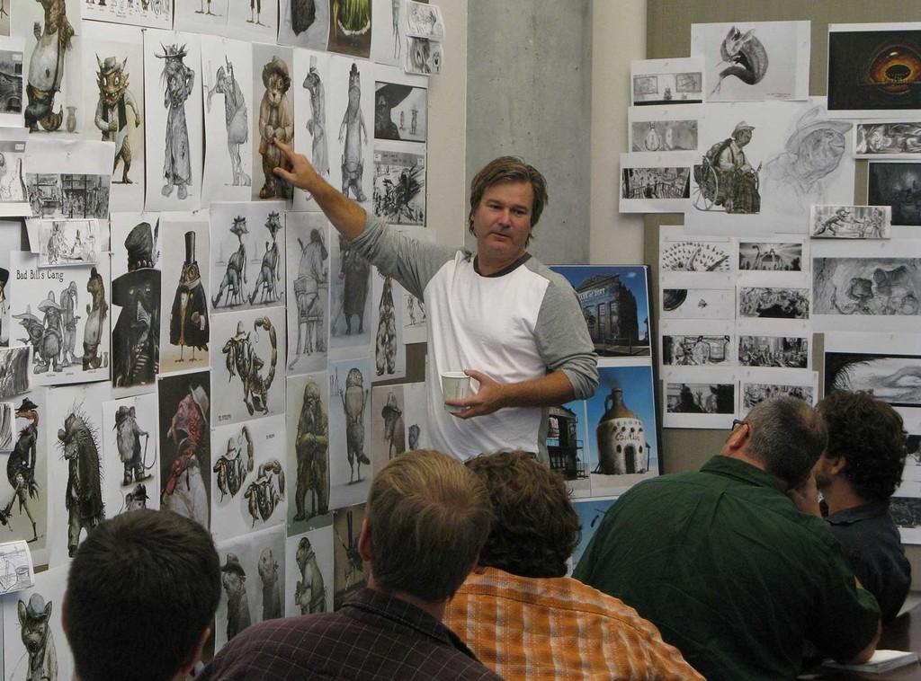 Gore Verbinski durante la producción de Rango
